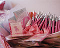 Breast cancer awareness ribbons and pens.jpg