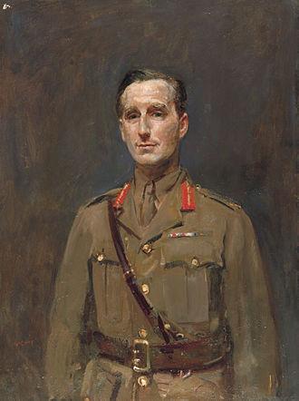 Arthur Asquith - Brigadier General Arthur M. Asquith (Ambrose McEvoy, 1918)