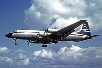 Bristol Britannia - BOAC Britannia Model 312 on a transatlantic flight at Manchester Airport in 1962.