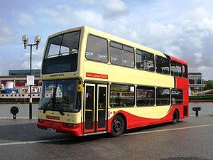 East Lancs Lolyne - Image: Bristol Harbourside North Somerset Coaches T810RFG