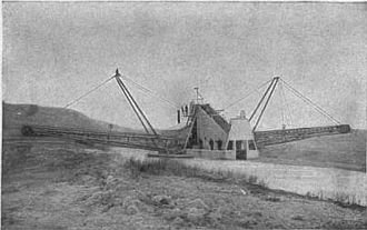 Lake Copais - British-built Lake Copais Company dredger at work
