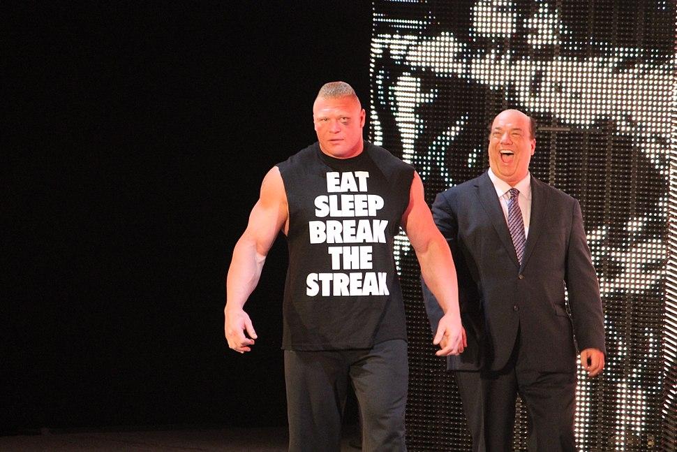 Brock Lesnar and Paul Heyman April 2014