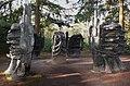 Bronze statues in a circle at Scuplture garden Kroller Muller - panoramio.jpg