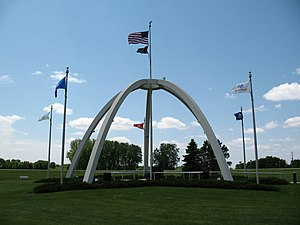 Brookings, South Dakota - The veterans memorial in Brookings.