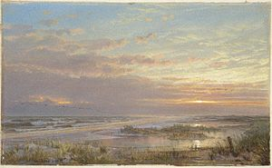 Atlantic City, New Jersey - A High Tide at Atlantic City by William Trost Richards is housed in the Brooklyn Museum.