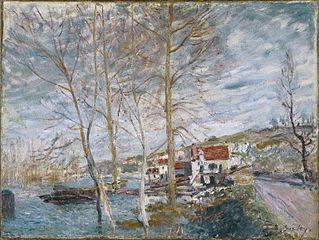 Inondation à Moret