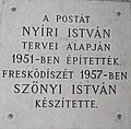 Budapest Csepel 1 post office, plaque, 2016 Csepel.jpg