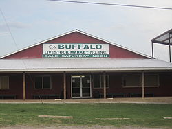 Buffalo, Texas, Livestock Auction Barn