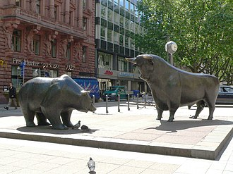 Frankfurt Stock Exchange - The bear and the bull in front of the Exchange