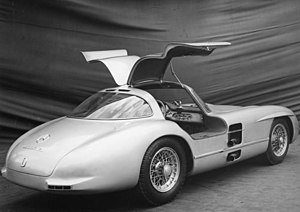 Mercedes-Benz 300 SLR - Gull-wing doors were a signature feature of the Uhlenhaut Coupé