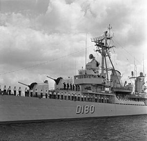USS Charles Ausburne (DD-570) - USS Charles Ausburne as the German Zerstörer 6 in 1962.