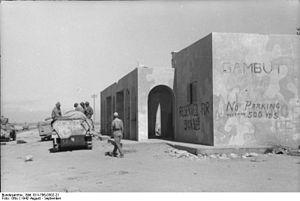 Kambut - German soldiers in Kambut, 1942.