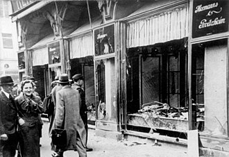 Kristallnacht - Kristallnacht, shop damage in Magdeburg