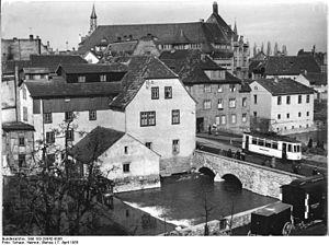 Erfurt Stadtbahn - Erfurt, Hermann-Jahn-Straße (1955).