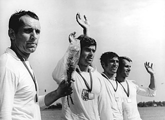 Frank Forberger - After the national championship in Brandenburg 1970 from the left: Frank Forberger, Frank Rühle, Dieter Grahn, and Dieter Schubert