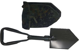 Entrenching tool - Modern all steel tri-folding E-Tool with D-handle