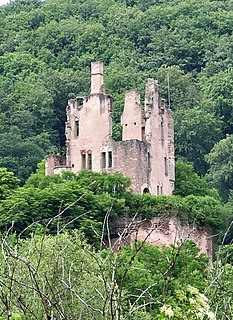 Ramstein Castle (Kordel) Castle ruins in the Kyll valley, Germany