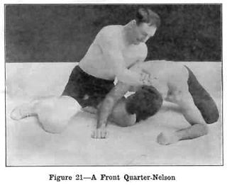 grappling hold which is executed from the backside of the opponent