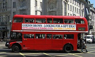 Online petition - Simulated bus advertisement used to promote an e-Petition to the British Prime Minister