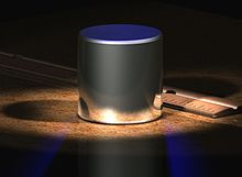 Computer-generated image of a small cylinder
