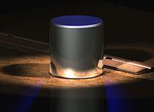 Komputil-generitbildo de malgranda cilindro