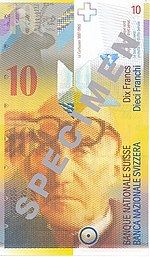 10 Franken Vorderseite