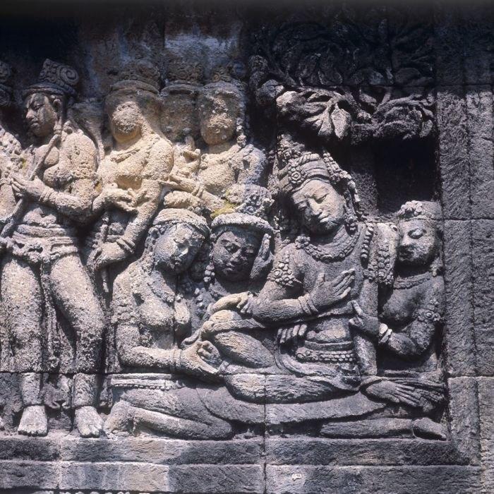 COLLECTIE TROPENMUSEUM Reliëf op de Borobudur TMnr 20025652