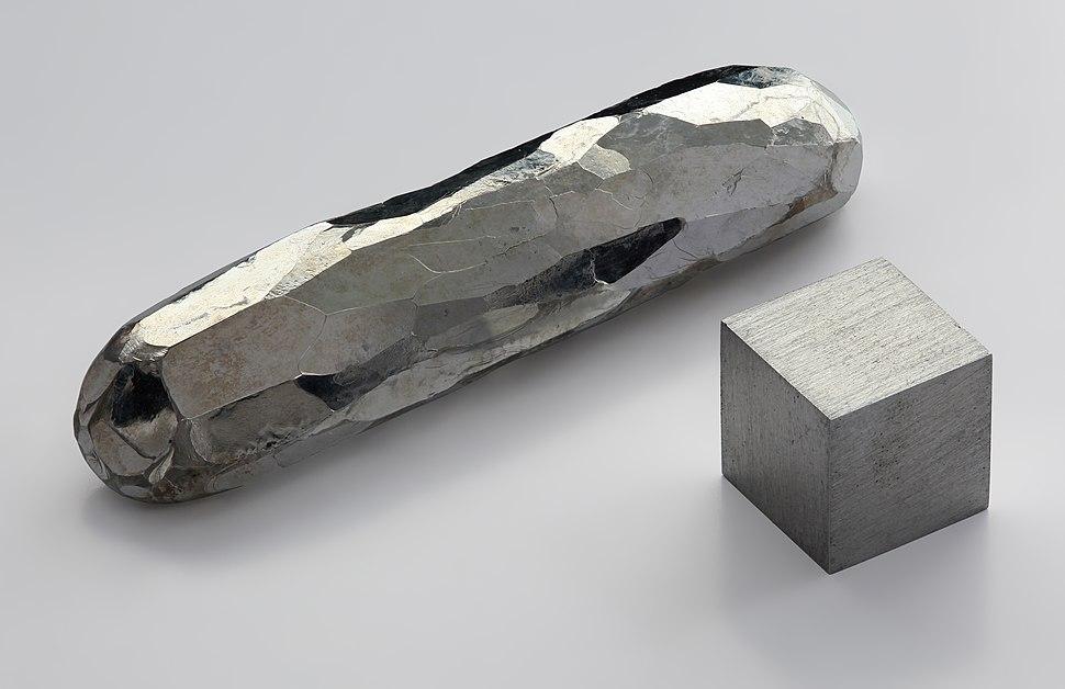 Cadmium-crystal bar