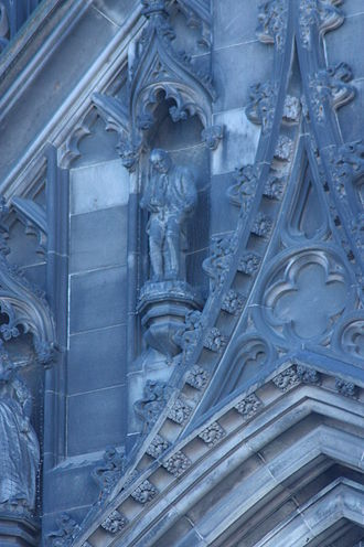 William Grant Stevenson - Caleb Balderstone on the north side of the Scott Monument