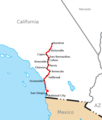 California Southern Railroad route map.png