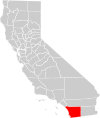 California county map (San Diego County highlighted).svg
