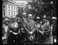 Calvin Coolidge and group outside White House, Washington, D.C. LCCN2016888060.jpg