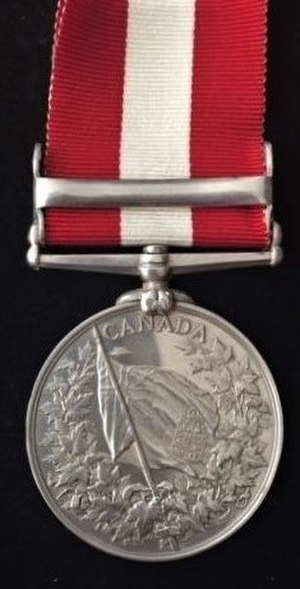 Canada General Service Medal - Image: Canada General Service Medal, 1870 reverse