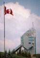 Canada olympic park 90m ski jump flag summer 2005.jpeg