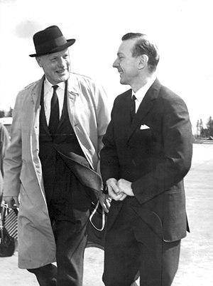 Arthur Laing - Arthur Laing (left) during a visit to Sweden in 1965.