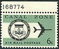 Canal Zone Air Mail, 6c, 1965 Issue.jpg