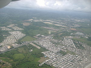 Canóvanas, Puerto Rico - Aerial view of PR-3 passing through Canóvanas