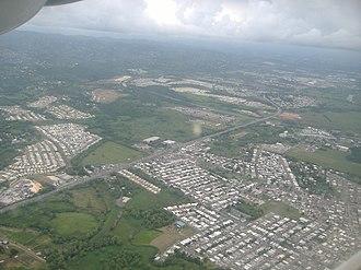 Canóvanas, Puerto Rico - Aerial view of PR-3 passing through Canóvanas