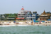 Cape May Beach Ave from the sea 3.JPG