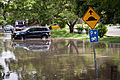 Car stuck the flooded Union Drive in the Brisbane suburb of Highgate Hill.jpg