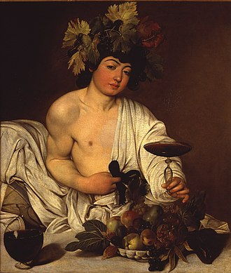 Cult of Dionysus - Bacchus by Caravaggio