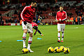 Carl Jenkinson x Aaron Ramsey warm up - 4 Dec 2013.jpg