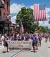 Carolina Crown Drum and Bugle Corps march in the Bristol Rhode Island July 4th Parade 2017.jpg