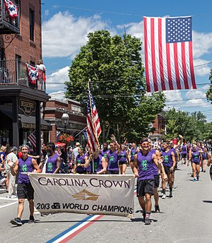 Carolina Crown Drum and Bugle Corps - Carolina Crown Drum and Bugle Corps marches in the 2017 Bristol, Rhode Island Fourth of July Parade.