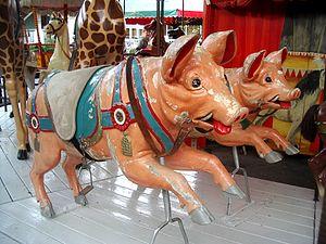 Gröna Lund - Image: Carousel pigs Gröna Lund