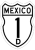 Federal Highway 1D shield