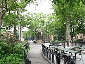 "Carroll Gardens, Brooklyn - The ""Carroll"" in Carroll Gardens comes from Maryland's Charles Carroll, for whom Carroll Park, seen here, is also named"