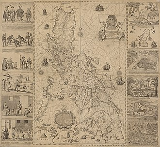 Scarborough Shoal - The 1734 Carta Hydrographica y Chorographica de las Yslas Filipinas map