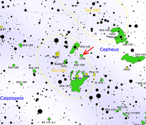 NGC 7538 - Map showing location of NGC 7538 (Roberto Mura)