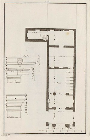 Casa Cogollo - Floor plan (Ottavio Bertotti Scamozzi, 1776)